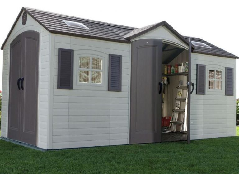 Large Plastic Sheds - Lifetime 15 x 8 ft Dual Entry Shed