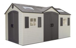 Large Plastic Sheds - Lifetime 15 x 8 ft Dual Entry