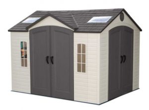 Large Plastic Sheds - Lifetime 10 x 8 ft Dual Entry