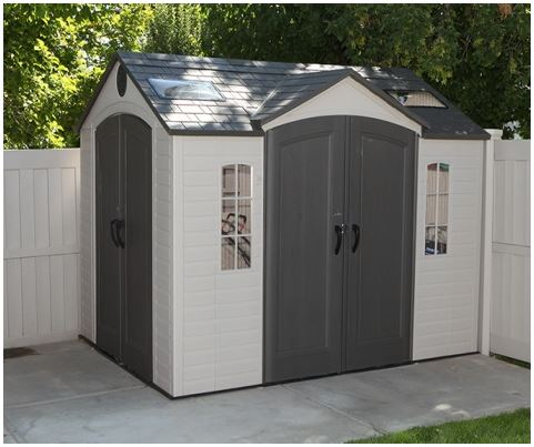 Large Plastic Sheds - Lifetime 10 x 8 ft Dual Entry Shed