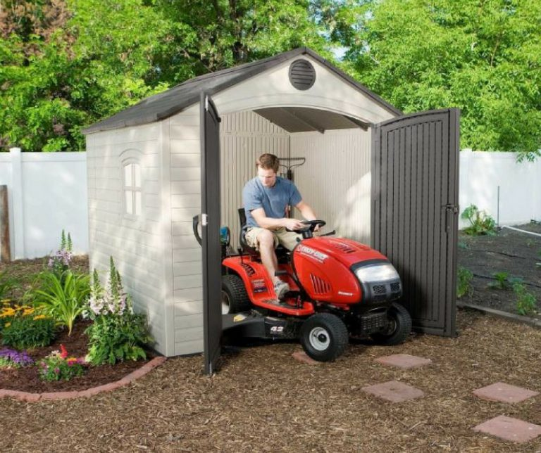 Backyard Resin Storage Sheds - Lifetime 8 x 7.5 ft