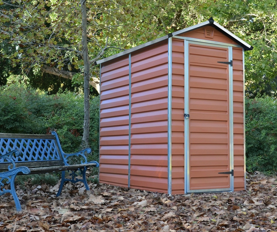 Palram 4 215 6 Ft Amber Weather Resistant Sheds