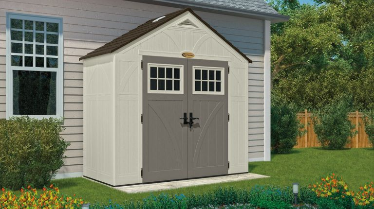 Plastic bike storage sheds quality plastic sheds for Garden shed 6 x 4 cheap