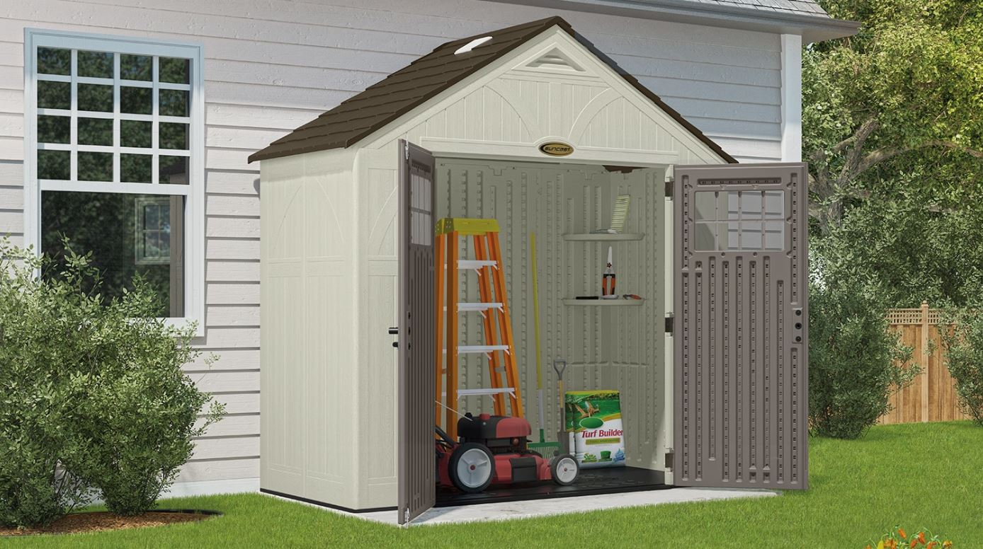 Plastic Bike Storage Sheds Suncast Tremont 8 X 4 Ft