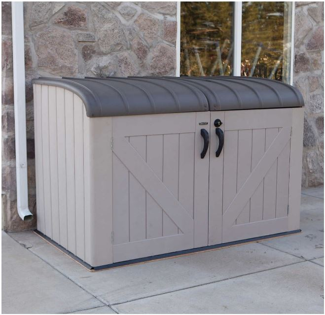 Plastic Wheelie Bin Storage - Lifetime Horizontal Shed