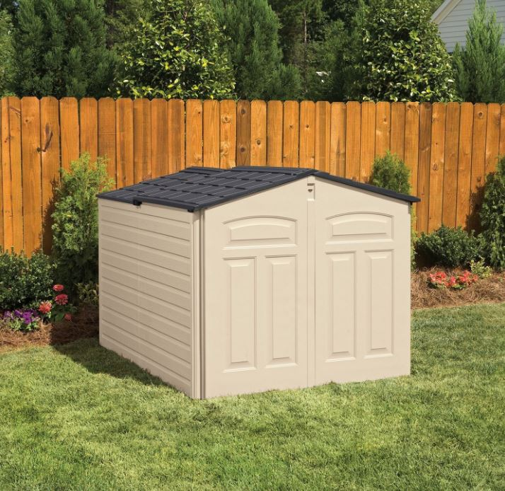 Plastic Bike Storage Sheds - Rubbermaid Slide-Lid