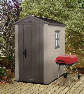 Plastic Bike Storage Sheds - Factor 4 x 6 ft