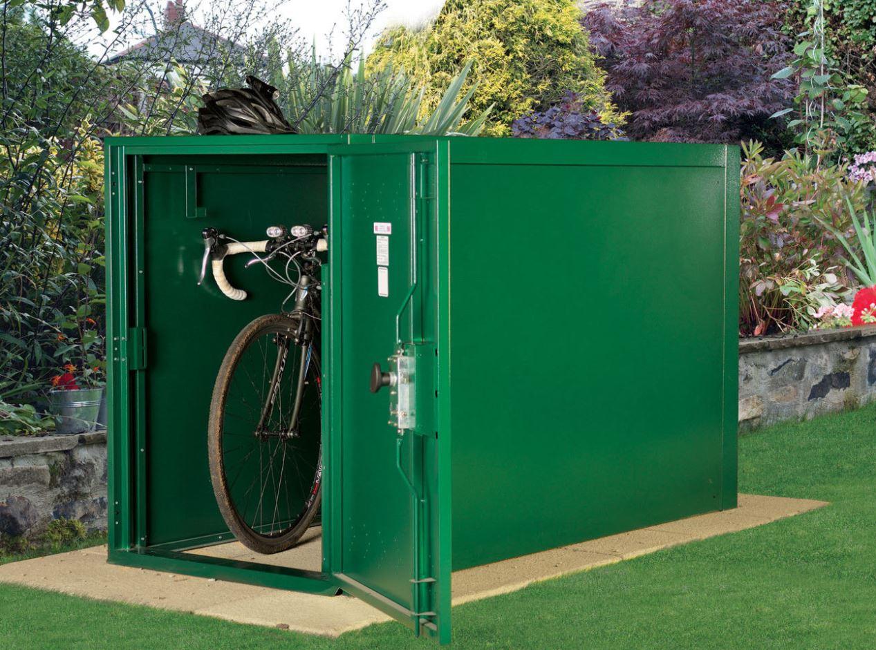 Asgard 2 Bike Locker Store Weather Resistant Sheds