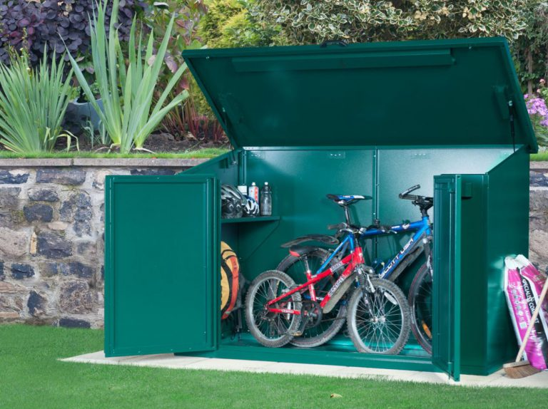 secure bike storage shed quality plastic sheds. Black Bedroom Furniture Sets. Home Design Ideas