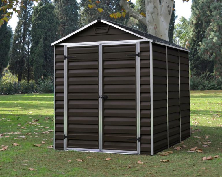 Cheap Plastic Garden Sheds - 6 x 8 ft - Brown