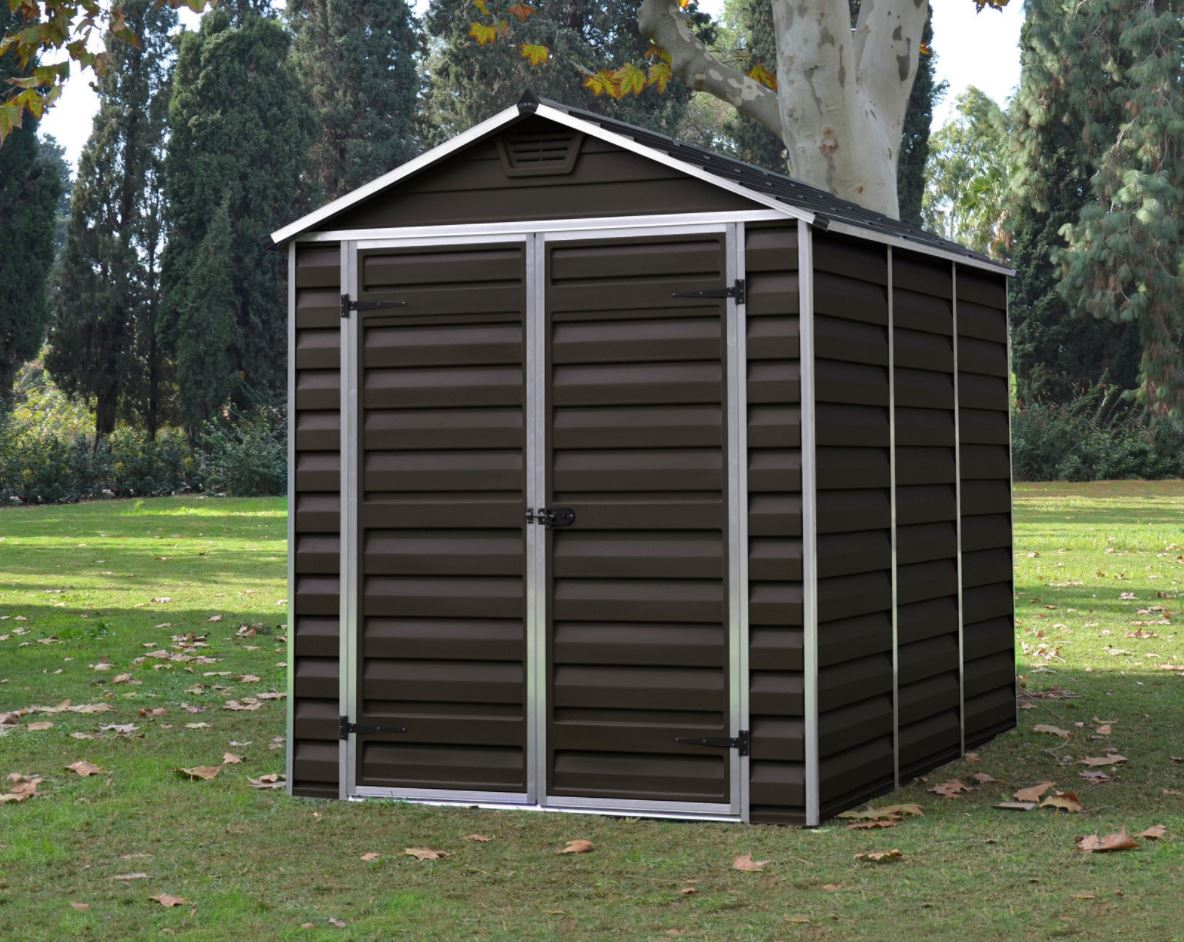 Cheap Plastic Garden Sheds 6 X 8 Ft Brown Quality