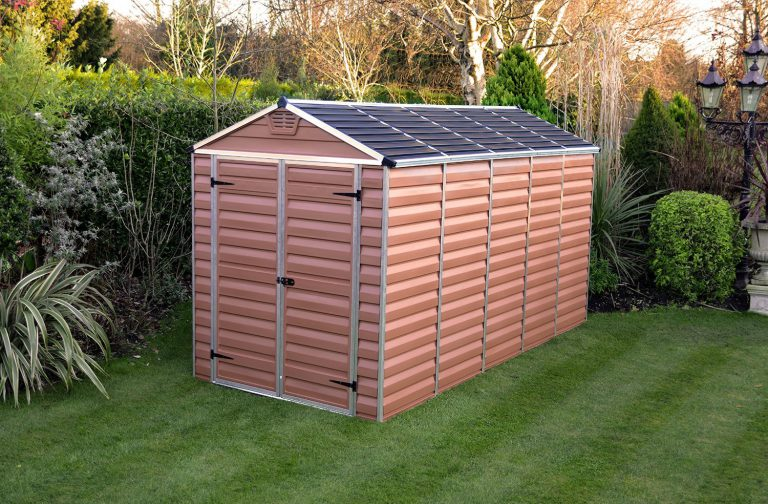 cheap plastic garden sheds 6 x 12 ft amber