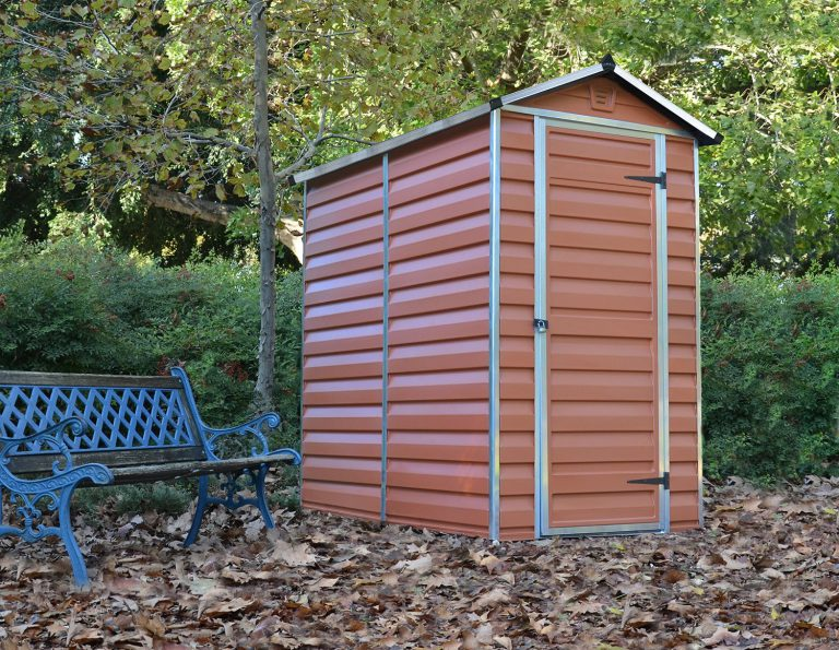 Plastic Bike Storage Sheds - Palram 4 x 6 ft - Amber