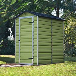 Cheap Plastic Garden Sheds - 4 x 6 ft - Green