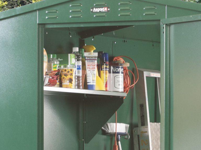 Steel Shelving, Hooks & Eyelets Organise Storage