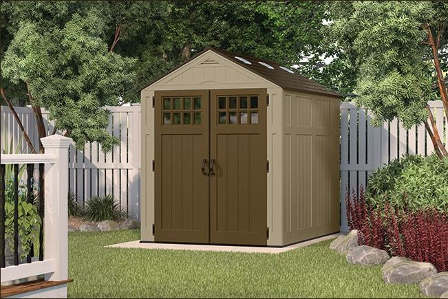 Outdoor Plastic Storage Sheds - Everett 6 x 8 ft