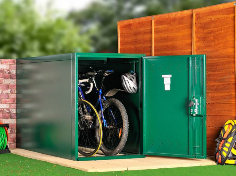 Outdoor Bike Storage Solutions - Asgard Green 2-Bike Store