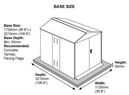 Centurion 5 x 9 ft Shed Dimensions