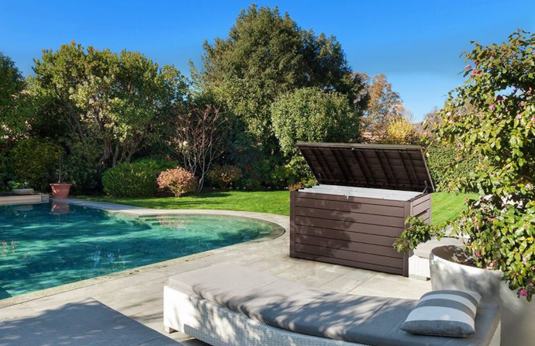 Ontario serves storage on the patio and poolside