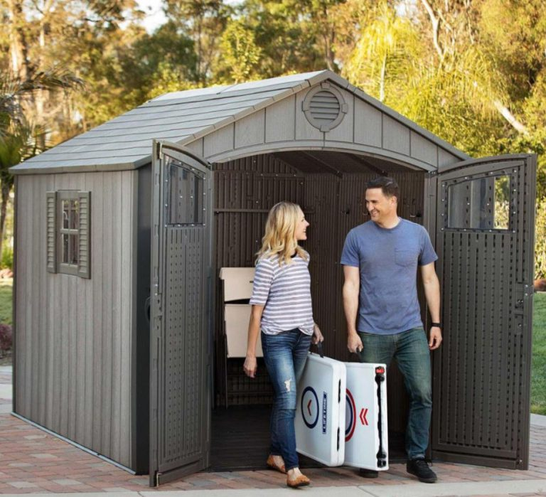 Lifetime Rough-Cut Storage Shed