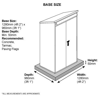 Compact Tool Shed Base Measurements