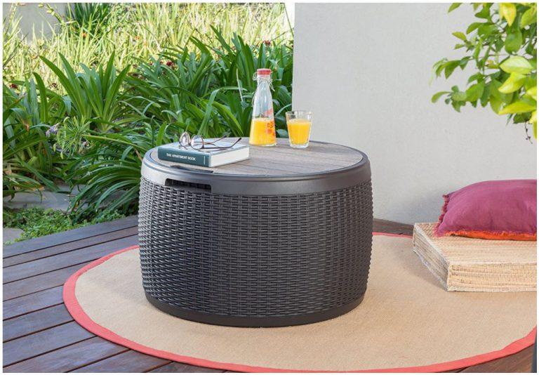 Round Deck Boxes - Circa's Rattan Weave