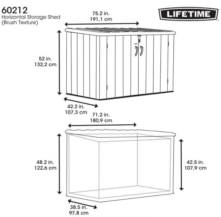 lifetime storage shed instructions