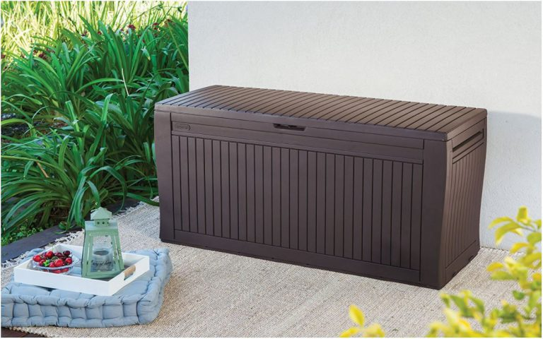 Deck Storage Box With Wheels - Keter Comfy