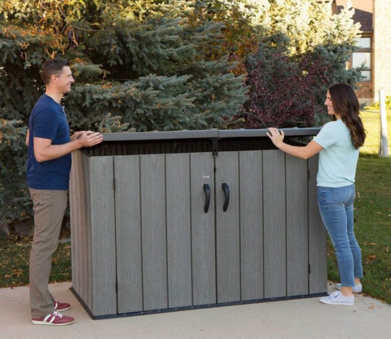 Rough-Cut Low Profile Storage Shed