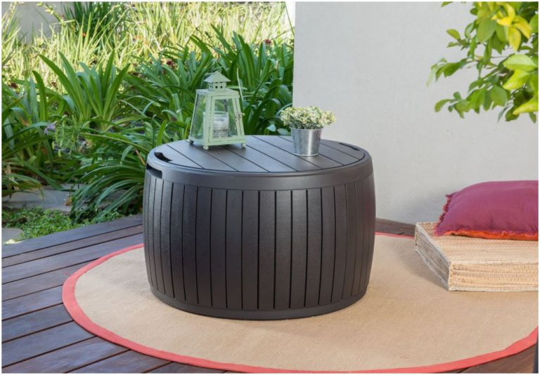 Round Deck Boxes Resembling Wooden Panelling