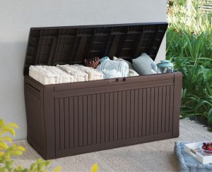 Deck Storage Box With Wheels & Deck Storage Box With Wheels - Quality Plastic Sheds
