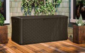 Suncast Extra-Large Wicker Deck Box