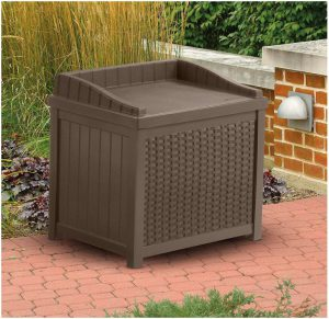 Suncast Deck Box Seat - Mocha Brown