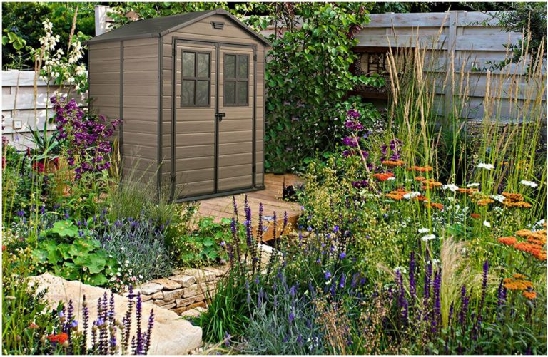 Small Plastic Garden Sheds - Scala 6 x 5 ft Shed
