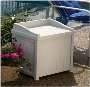 Suncast Deck Box Seat - Light Taupe