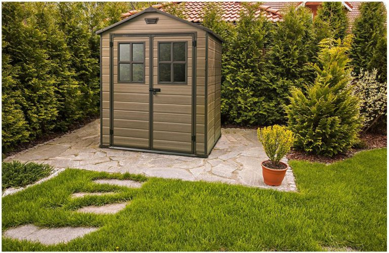 Small Plastic Garden Sheds - Scala 6 x 8 ft Shed