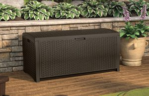 Suncast 98 Gallon Wicker Deck Box