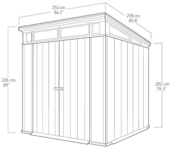 Artisan 7 x 7 ft Shed Measurements