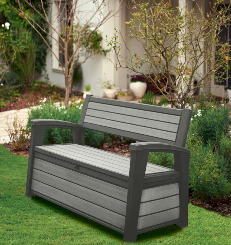 Weather-Resistant Garden Storage Bench