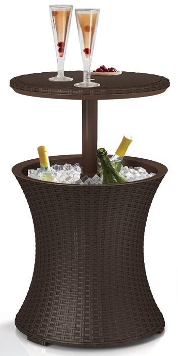 Cool-Bar in Rattan Styling