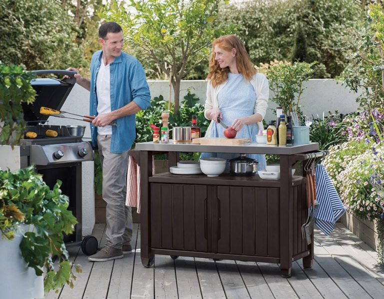 XL Unity Outdoor BBQ Storage Table