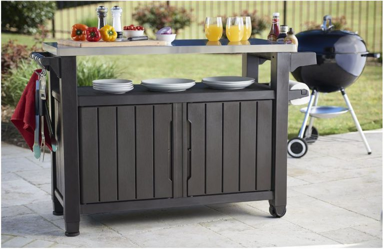 Outdoor BBQ Storage Table - Keter XL Unity