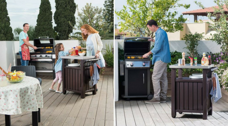 Small Unity Outdoor BBQ Storage Table