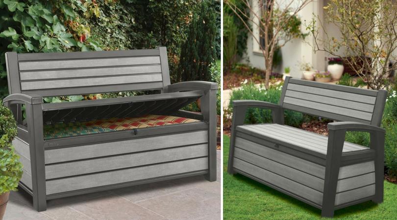 Weather-Resistant Garden Storage Bench