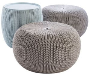 Round Outdoor Ottomans