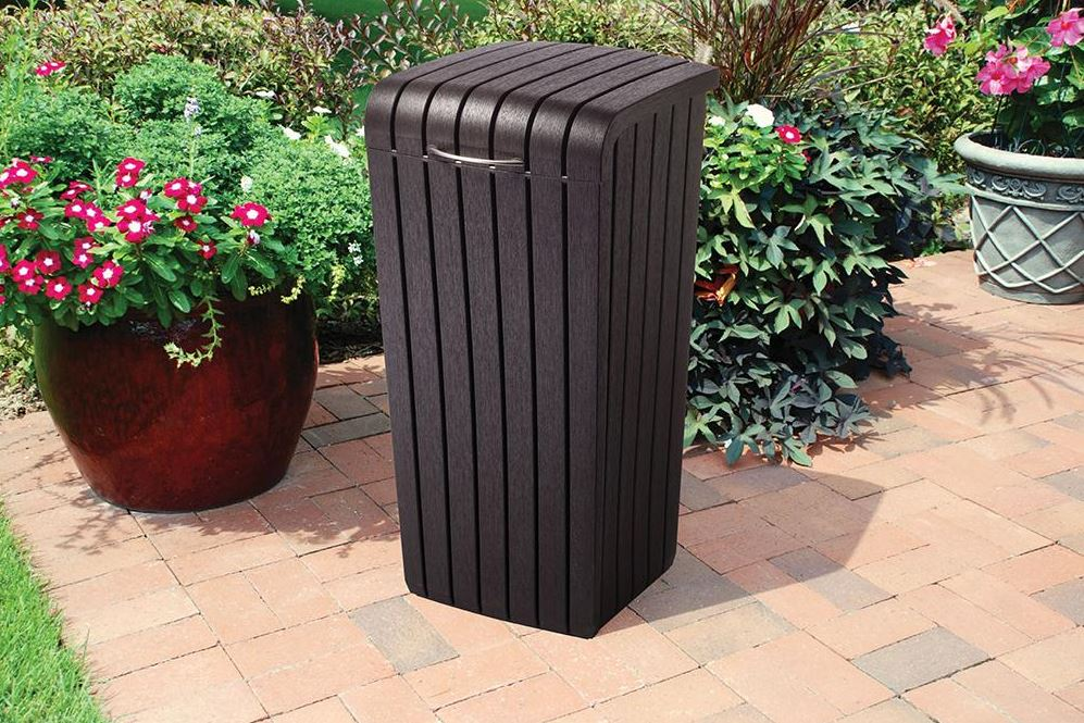Keter Copenhagen - Outdoor Patio Trash Bin