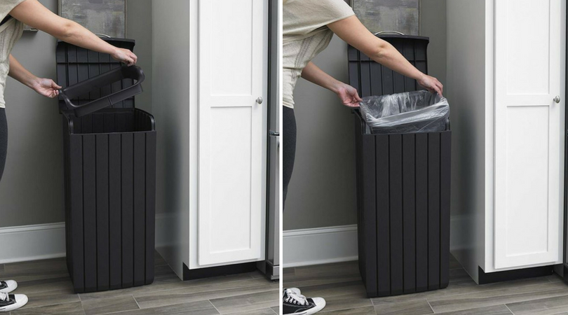 Removable Rim seats to support bin-liners