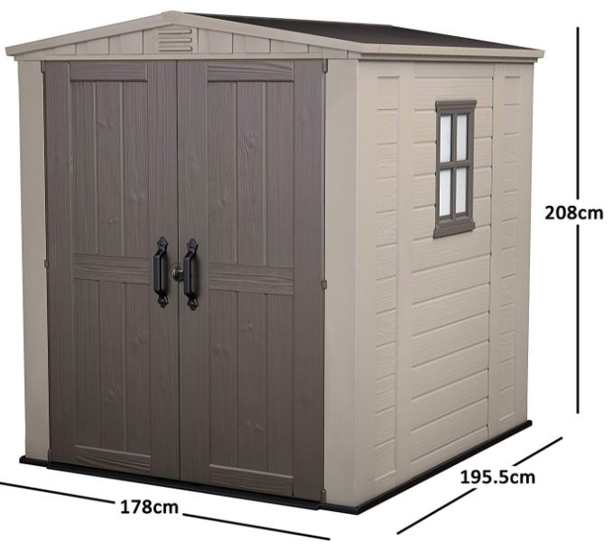 Factor 6 x 6 ft Shed Measurements