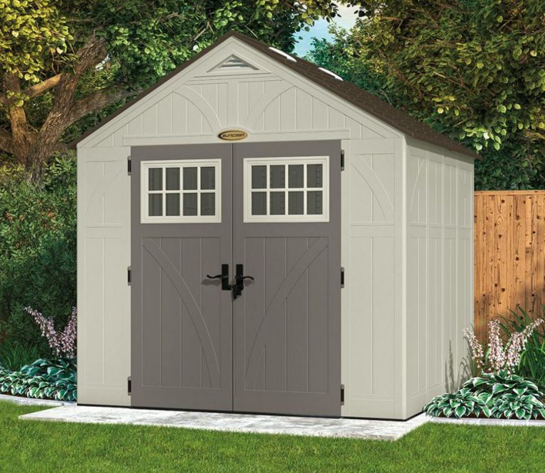 Rot-Proof Plastic Garden Storage Sheds - Tremont 8 x 7 ft