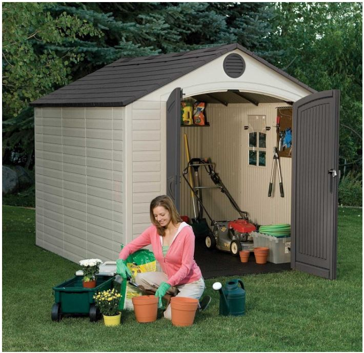 Rot-Resistant 8 x 10 resin storage sheds